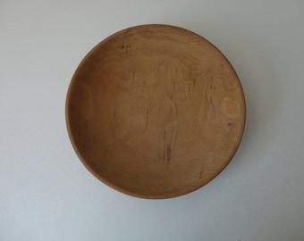 VINTAGE handmade apple WOOD BOWL