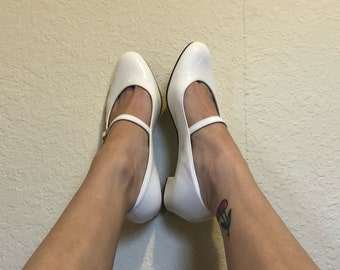 White Patent Leather Mary Janes 7