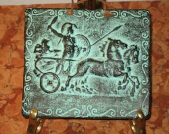 Auriga Greek Mythology Charioteer Terra Cotta Wall Plaque! #EH