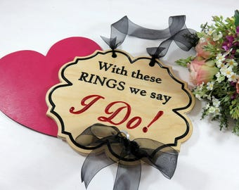 Rustic Wood Wedding Signs - Sign for Ring Bearer - Custom Ring Bearer - Signs for Weddings - Ring Boy Sign - Rustic Ring Bearer - Photo Prop