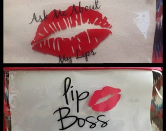 Ask Me About My Lips / Lip Boss - On the Go Promo Bag !