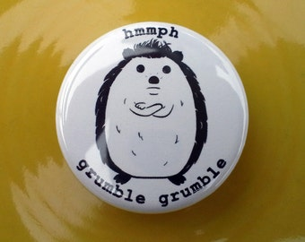 Hedgehog Pin 1.25 Inch Button Badge
