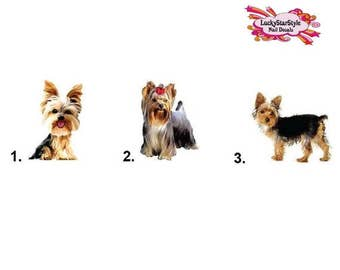 Waterslide Dog Nail Decals Set of 20 - Yorkie Yorkshire Terrier
