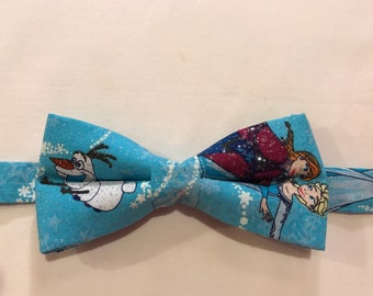 Frozen with Anna and Elsa bow tie