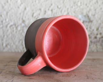 Red and brown mug