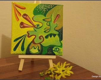 Abstract acrylic canvas