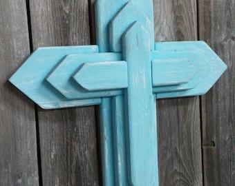 Unique 3-Tier Wooden Cross, Rustic Wood Cross, decorative crosses, Wall decor, unique wall crosses