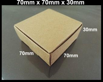 Kraft Paper Boxes - 10pcs Brown Kraft Box Paper Box Gift Boxes Gift Wrapping 70mm x 70mm x 30mm