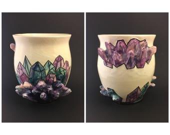 Multicolor Crystal Vase