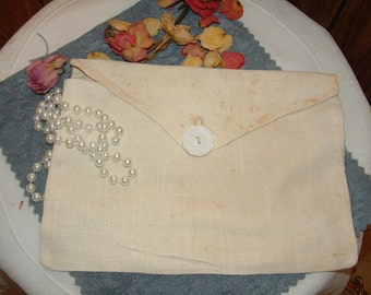 Vintage Handmade Linen Lingerie and Jewelry Bag