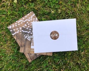 Envelope Seals, Stickers, Labels, Monogram, Matching, Wedding Invitations, Elegant, Rustic, Vintage, Shabby Chic, Boho, Wood, Gold, Barnwood