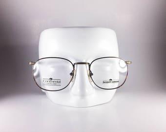 Continental Eyewear Vintage Eyeglasses Ken-Dee 56-20 Cognac Gray Plastic NOS Deadstock - CONF73W-1