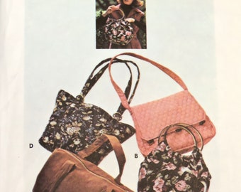 Butterick 4520 Purse Pattern, Handbag in 4 Shapes, Tote Carryall Duffle Bag, Uncut, Vintage Retro Sewing itsyourcountry