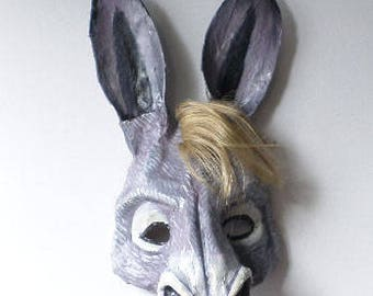 Donkey Mask, Donkey, mule, animal mask, wearable, paper mache