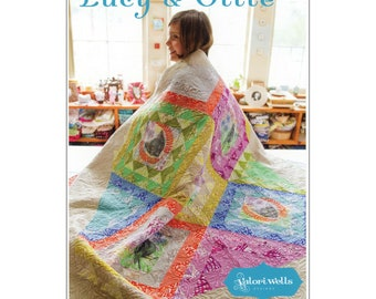"""Pattern """"Lucy & Ollie Quilt"""" by Valorie Wells Designs VWD426 Paper Sewing Card Pattern"""
