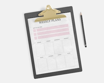 Weekly Planner Instant Download - Weekly Planner, Week Planner, Mum, Organisation, Back to School, University, Student