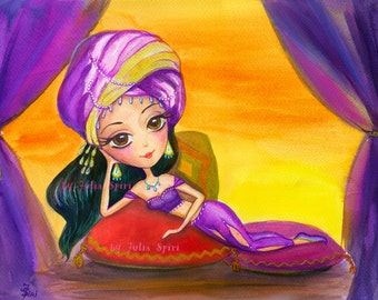 Digital stamps, digi stamp, 1001 nights, Scheherazade, East, Fairy tale, East girls, Coloring page, Instant download. 1001 Nights