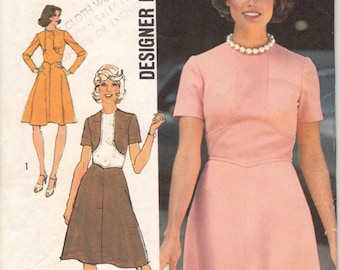 Bust 32 1/2-FACTORY FOLDED Misses' Dress Designer Fashion Simplicity 6145 Size 10