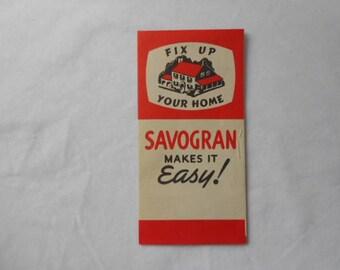 Vintage Savogran Advertising Brochure