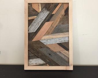 Mini Reclaimed Wood Abstract Art