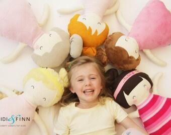 Pillow Pals soft doll girl boy sewing pattern pdf