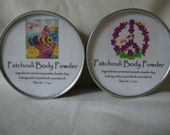Patchouli Body Powder, Body Powder, Natural Powder, Talc Free Powder, Powder, Handcrafted Powder, Bath Powder, Easter Gift