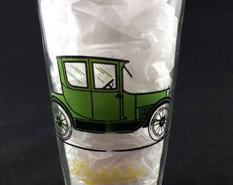 Vintage Automobile Drinking Glass, Hazel Atlas Glass, Vintage 1960s