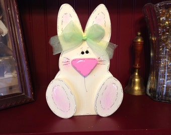 Cute Wooden Easter Bunny