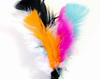 Feather Cat Toys, Feathery Fun, Handmade Cat Toys, Fun Cat Toys, Catnip Feathers, Kitten Toys, Best Cat Toys, Kitty Lure Toys