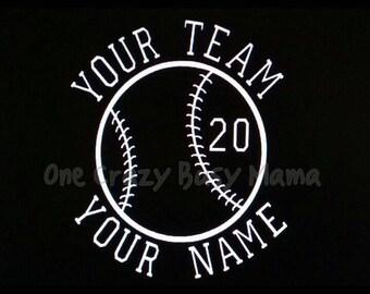 Custom Baseball Decal