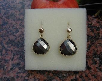 Earrings of pyrite in 585-er gold filled!