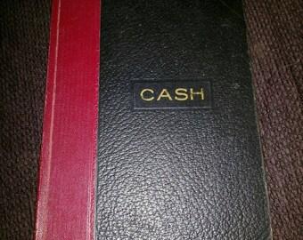 Vintage hard bound cash ledger vernon line 2044