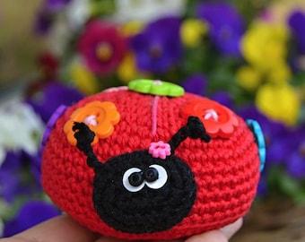 Cute crochet ladybug - pattern, DIY