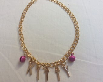 Kitty anklet gold