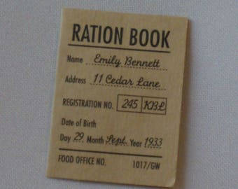 American Girl Ration Book from Emily's Meet Accessories ... Mint Vintage Condition ... Retired