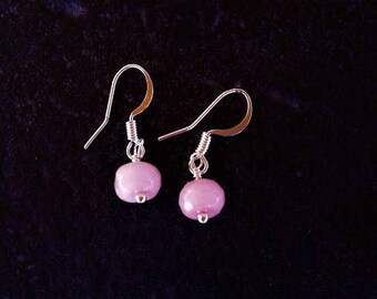 Pink Morganite Sterling Silver Drop Earrings