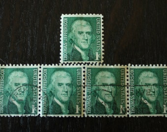 United States Thomas Jefferson 1 Cent Stamps