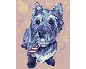 Paint by numbers kit CAIRN TERRIER