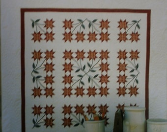 "Plum Creek Patchwork Quilt Pattern Minnesota Lily  Size 84"" x 84"""