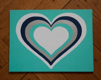 Heart in Heart Canvas