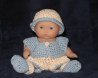 """5"""" doll short/sweater set of 5 pieces"""