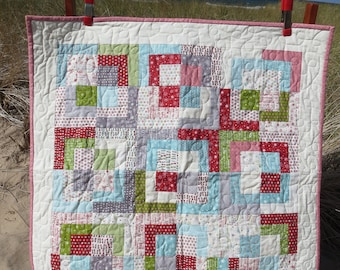 Fun Christmas Print Lap Quilt or Throw
