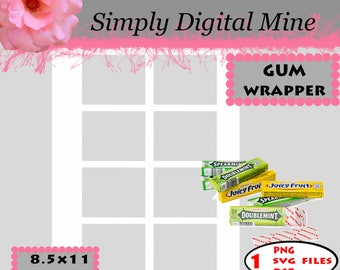 YOU Design!!! Wrigley Gum wrapper Template !!