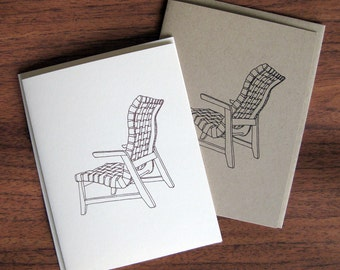 Rapson Greenbelt Lounge Chair Illustration Note Card