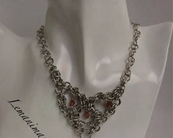 Choker Chainmail Point/pointed chainmail choker