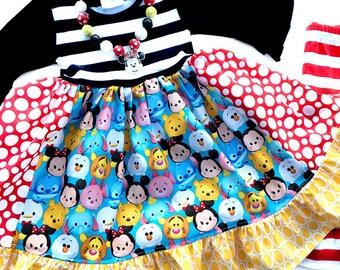 Disney Tsum Tsum Momi boutique custom dress