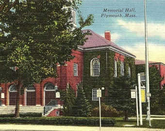 Plymouth, Massachusetts, Memorial Hall - Postcard - Vintage Postcard - Unused (BB)