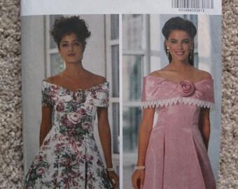 UNCUT Misses Dress - Size 6 to 10 - Butterick Sewing Pattern 5908 - Vintage 1992