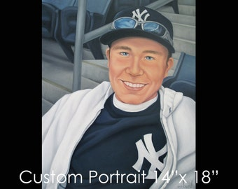 """14""""x18"""" Custom Portrait - Oil on Canvas by Maria Burd"""