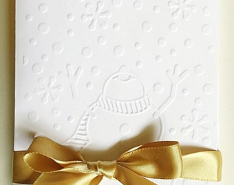 Snowman Christmas Cards-Embossed Christmas Card Set, Holiday Cards, Boxed Christmas Card Sets, Holiday Card Set, Merry Christmas Card Sets